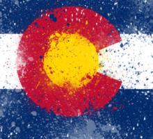 Colorado Flag Splatter Sticker