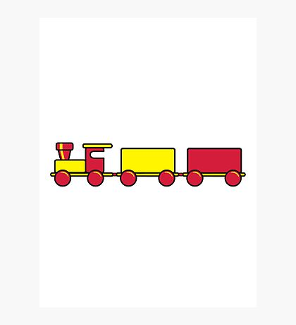 Toy train child Photographic Print