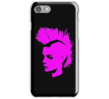 Punk Girl – pink unichrome iPhone Case/Skin