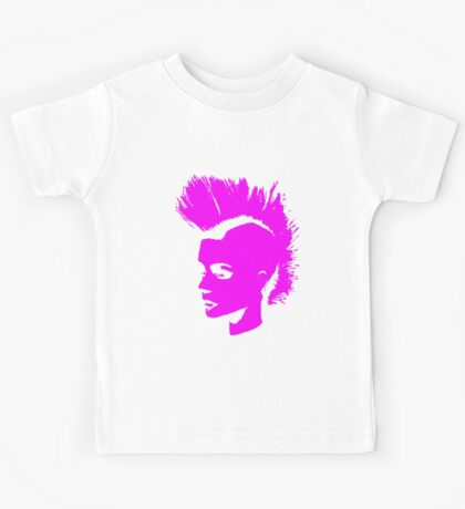 Punk Girl – pink unichrome Kids Tee