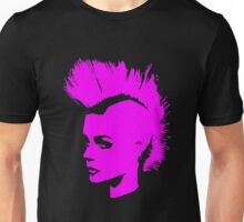 Punk Girl – pink unichrome Unisex T-Shirt