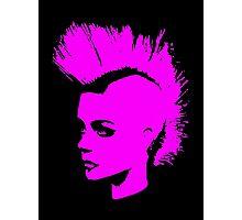 Punk Girl – pink unichrome Photographic Print