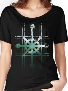 TIC TAC TOE ARROWS WATERFALL Women's Relaxed Fit T-Shirt