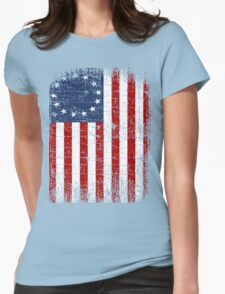 USA 13 Star 1776 Flag Womens Fitted T-Shirt