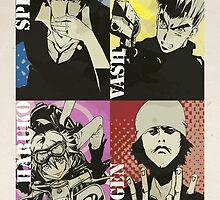 Anime Retro (Trigun, Cowboy Bebop, Samurai Champloo, FLCL) by FlashStep