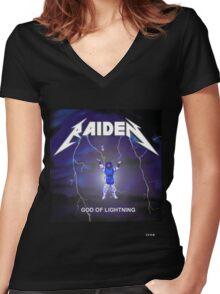 Raiden the lightning Women's Fitted V-Neck T-Shirt