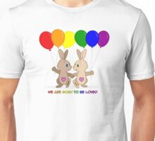 Skip and Pip (aka the Pride Bunnies) Pride 2016 Unisex T-Shirt
