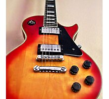 Sunburst Guitar Photographic Print