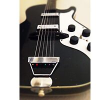 Black Guitar Photographic Print