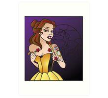Disney Princesses with attitude - Belle Art Print