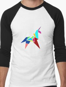 Unicorn Origami Men's Baseball ¾ T-Shirt