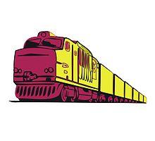 Freight railway locomotive by Motiv-Lady