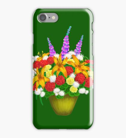 Passive Aggressive Flowers iPhone Case/Skin