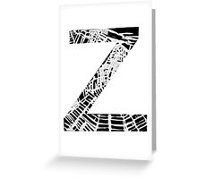 Z Greeting Card