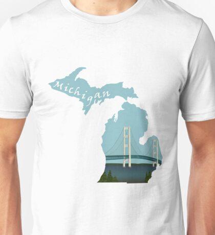 Michigan: Mackinac Bridge Unisex T-Shirt