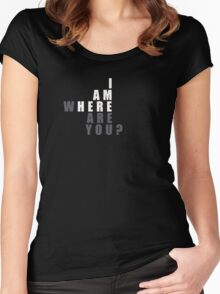 I Am Here! Awesome  Design  Women's Fitted Scoop T-Shirt