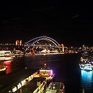 Sydney Harbour Bridge Vivid 2016 by Kezzarama