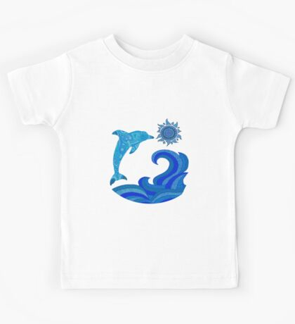 Leaping dolphin Kids Tee