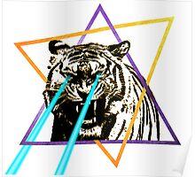 Laser Tiger Poster