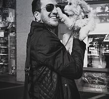 Austin Carlile and a puppy by leximarkovic