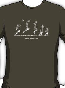 Fangen Catching a high ball vintage 50s T-Shirt