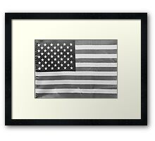American Flag black-and-white  Framed Print