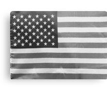 American Flag black-and-white  Metal Print
