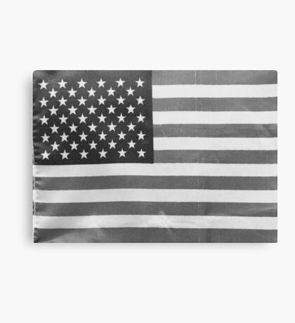 American Flag black-and-white  Canvas Print