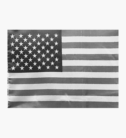 American Flag black-and-white  Photographic Print