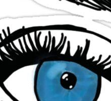 blue eye and eyebrow Sticker