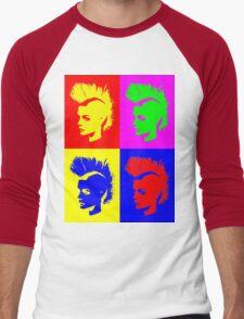 Punk Girl – Pop Art / Vers. II Men's Baseball ¾ T-Shirt