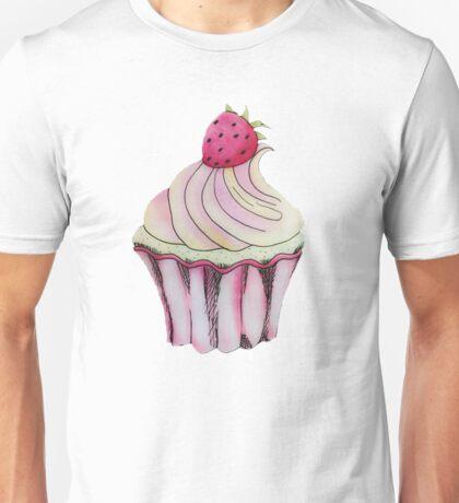 Strawberry Lemon Cupcake Unisex T-Shirt