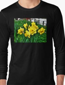Shy Daffodils  Long Sleeve T-Shirt