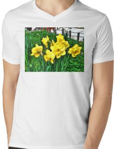 Shy Daffodils  Mens V-Neck T-Shirt