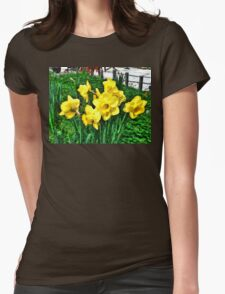 Shy Daffodils  Womens Fitted T-Shirt