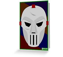 Masked New Yorker Greeting Card