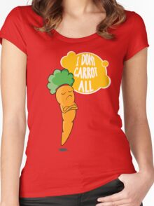 I Dont Carrot All Women's Fitted Scoop T-Shirt