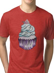Blue Raspberry Cupcake Tri-blend T-Shirt