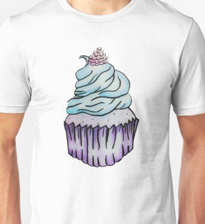 Blue Raspberry Cupcake Unisex T-Shirt