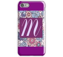 Monogram, Letter M iPhone Case/Skin