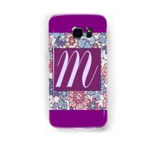 Monogram, Letter M Samsung Galaxy Case/Skin