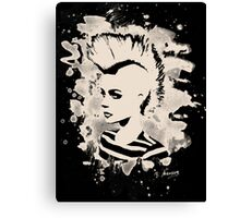 Punk Girl – bleached - white Canvas Print