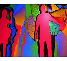 Human Movement in Color Photographic Print