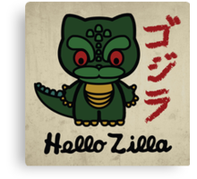 Hello Zilla Canvas Print