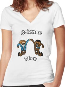 Science Time!! Women's Fitted V-Neck T-Shirt