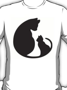 Cat with kitten silhouette T-Shirt