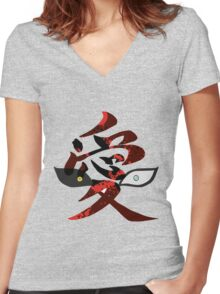 gara Women's Fitted V-Neck T-Shirt