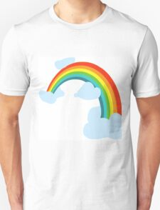 RAINBOW WITH CLOUDS Unisex T-Shirt