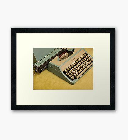 Vintage TAB-O-MATIC Antique Typewriter 1970's Framed Print