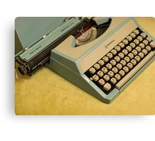 Vintage TAB-O-MATIC Antique Typewriter 1970's Canvas Print